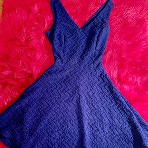 Blue skater style dress